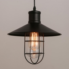 10 3/4'' Wide Nautical Style Single Light Pendant with Saucer Shade