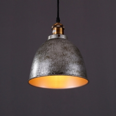 Industrial Style Antique Silver Mini 1 Light Pendant Lighting