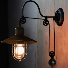 Vintage Black Adjustable 1 Light Industrial Wall Sconce Lighting