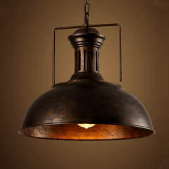 Antique Bronze Finished Single Light Large Barn Pendant 16 1/2' 'Wide