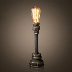 Antique Bronze Finished 1 Light Pipe Style Desk Lamp Night Light