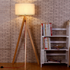 Nordic Style 1 Light Tripod Wooden Floor Lamp