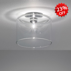 Nordic Style Cylinder Glass Shade Flush Mount Ceiling Light