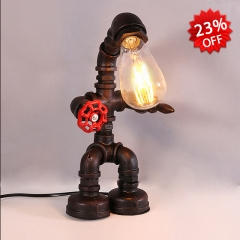 Cute Pipe Robot Mini Table Lamp Desk Lamp Night Light for Bedroom