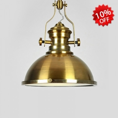 11 3/4'' Wide Gold Finished Single Light Pendant Lighting