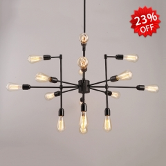Classic 16 Light Chandelier in Vintage Black