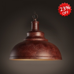 Industrial Style Antique Copper Finished 1 Light Pendant Lighting