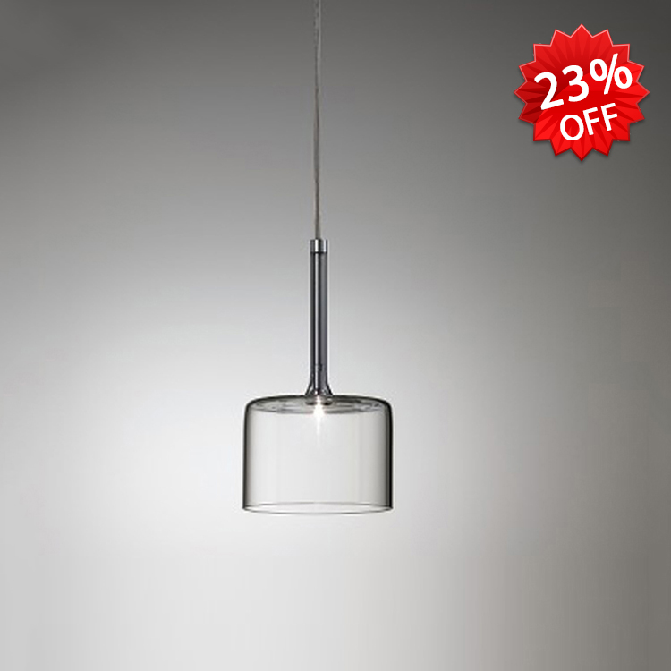 Modern style 1 light cylinder shade clear glass 1 light pendant lightingmini pendant