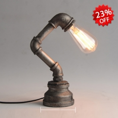Industrial Style Single Light Desk Lamp in Antique Bronze Finish