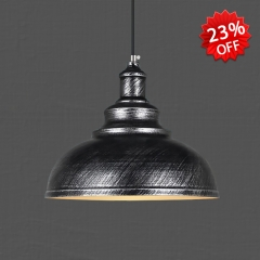 Bowl Shape Single Light Indoor Pendant Lighting in Industrial Style