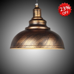 Antique Bronze Single Light Pendant Lighting with Bowl Shade