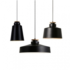 Black Finished 1 Light Hanging Pendant in Craftsman Style for Kitchen Lighting