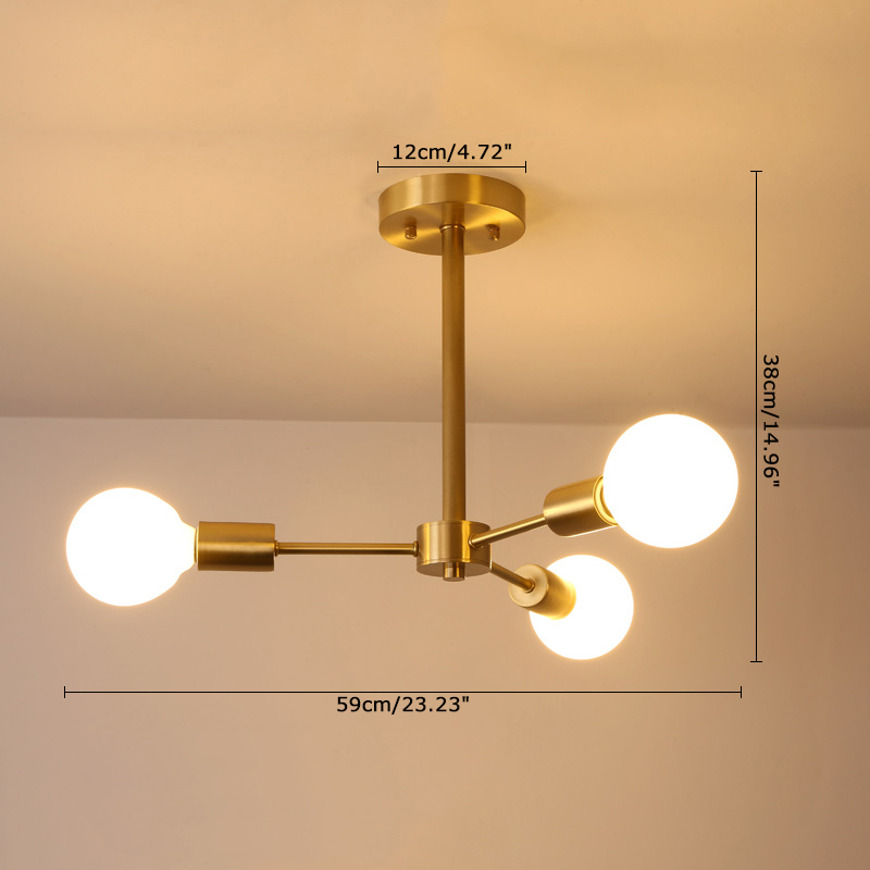 Contemporary 3 light study room branch ceiling lampceiling light bulb information aloadofball Gallery