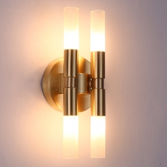 Contemporary Style 4-Light Wall Sconce with Clear/Frosted Glass Shade