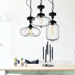 Contemporary Single Light Gear Glass Pendant Lighting