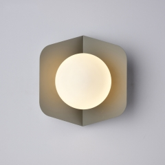 Chic Modern Design Single Light Wall Sconce with Ball Shade for Bedside Hallway
