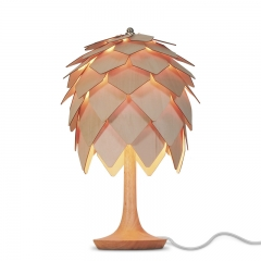 Single Light Pine Cone Bedside Table Lamp in Modern Style