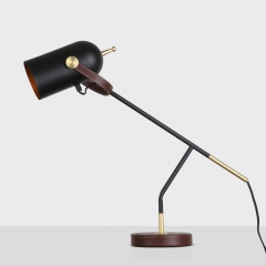 Northern Design 1 Light Leather Table Lamp, Bedside Lamp and Reading Lamp