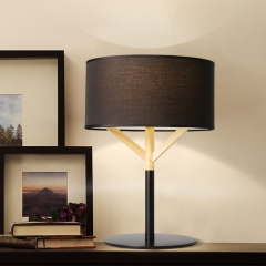 Modern Style 1 Light Fabric Table Lamp Bedside Lamp