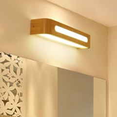 Wooden Liner LED Wall Light for Bedside Lighting-Cool White