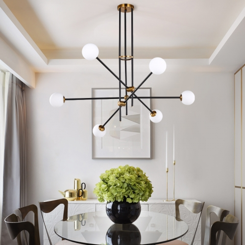 Modern Design Sputnik Chandelier with Hand-blown Glass for Living Room