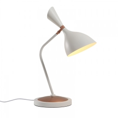 Modern Chic 1 Light Table Lamp Desk Lamp in Mette Black/White