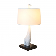 Modern Designer Lighting Giraffe Table Lamp in White