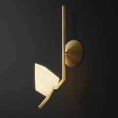 Modern Style 1 Light Seed Wall Sconce in Brass for Bedside and Bathroom Vanity Lighting