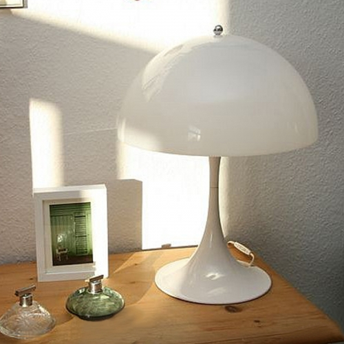 Contemporary Style Panthella 2 Light Mini Table Lamp Dome Shade in White