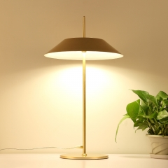 Mid Century Modern Mayfair LED Table Lamp Topped with Tapered Shade