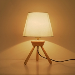 Modern Chic 1 Light Table Lamp with Wooden Tripod Base