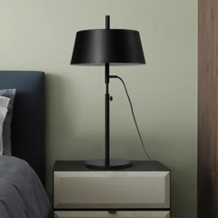 Modern Black Hight Adjustable 1 Light Table Lamp for Bedside