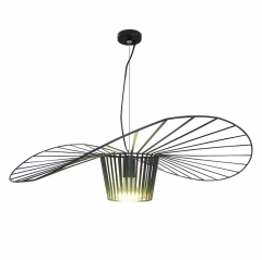 "Modern Design 23""W 1 Light Vertigo Pendant Light in Black"
