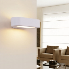 Modern White Up and Down Light LED Wall Sconce for Hallway or Bedroom Energy Saving