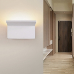 Modern Oiled Brown LED Mini Hallway Right Angle Wall Light
