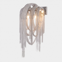 Post Modern Luxury 2 Light Chain Wall Light  for Bedroom, Bedside or Hotel Villa
