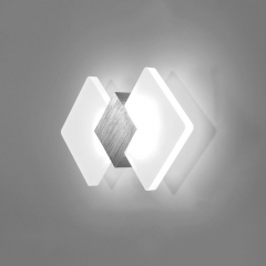 Modern Style LED Angular Wall Lamp 6W Warm White