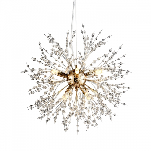 Contemporary Firework Crystal Chandeliers for Living Room Bedroom -Dimmable Bulb Included