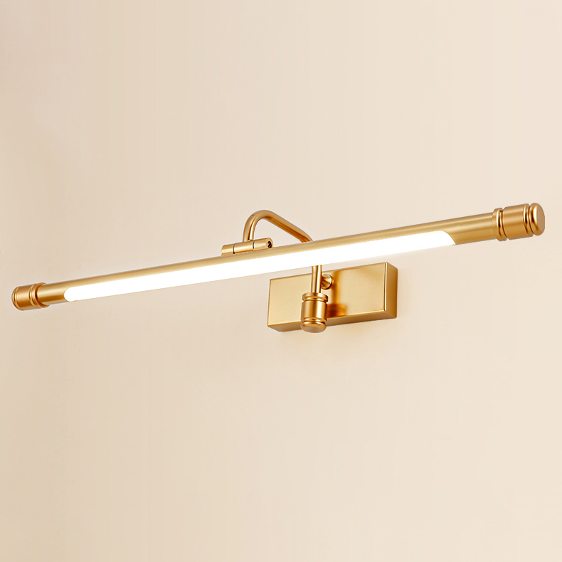 Mid Century Modern Led Vanity Light In Matte Gold Angle Adjustable Led Lights