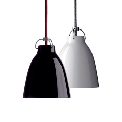 Modern 1 Light Dome Pendant Light in Glossy Black/White for Kitchen Island, Dining Room or Resturant
