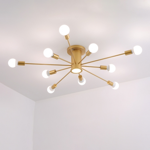 Mid Century Modern 10 Light Ceiling