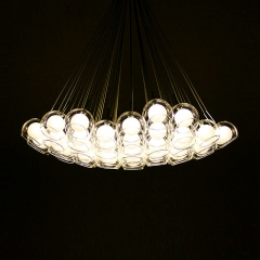 Modern Design Bocci Cluster Pendant Light with Clear Glass Globes