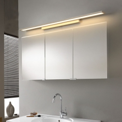 Minimalist Style Linear LED Vanity Light in White Energy Saving Bathroom Vanity Light