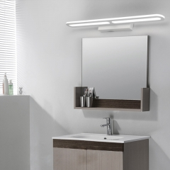 Modern White LED Vanity Light for Bathroom Powder Room