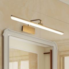 Modern Style Armed LED Bathroom Vanity Light in Satin Gold