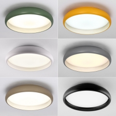 Hollowed Round LED Ceiling Light with Multiple Colors for Hallway