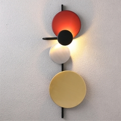 Modern Design Art Decor Wall Sconce with Four Color Circles for Kid's Room Living Room Lighting