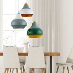 Modern Design 1 Light Cirque Pendant with Lacquered Color Combination Surface for Restaurant Bar and Kitchen Island
