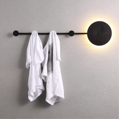Modern Chic Design Versatile Wall Sconce in Black