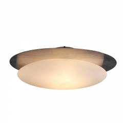 Modern Style Beige Eggs Ceiling Light with Chrome Canopy for Living Room Bedroom Restaurant